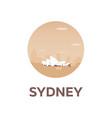 australia tourism travelling vector image vector image