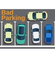 Bad parking Blocking cars vector image vector image