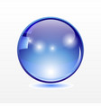 big translucent blue sphere with shadow on vector image