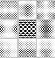 Black and white horizontal rhombus pattern set vector image vector image