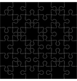 Black background jigsaw puzzle vector image vector image