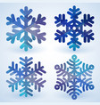 blue cristal snowflakes vector image vector image
