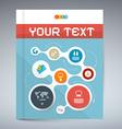 Blue Modern Book or Brochure Cover Design - vector image