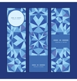 blue triangle texture vertical banners set pattern vector image vector image