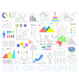 bright charts and round diagrams set vector image vector image