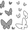 butterflies pattern isolated icon vector image