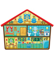 Cartoon house in a cut vector image vector image