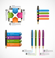 Collection of Abstract business infographics vector image vector image