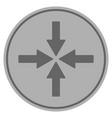 collide arrows silver coin vector image vector image