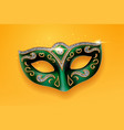 colombina green mask decorated with diamonds vector image