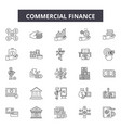 commercial finance line icons signs set vector image vector image
