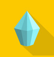 cone shaped diamond icon flat style vector image