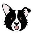 cute cartoon puppy dog vector image