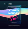 cyber monday banner sale poster vector image