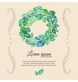 decorative flourish template watercolor wreath vector image vector image