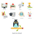 distant learning flat design online education vector image