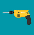 drill flat icon isolated on color background vector image vector image