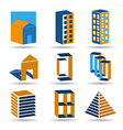 estate icons and logos set vector image vector image