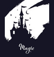 fairy tale castle silhouette wizard world vector image vector image