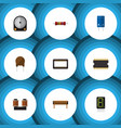 flat technology set of coil copper display vector image vector image