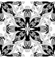 floral black and white beautiful seamless vector image vector image