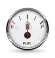 fuel gauge half tanked round car dashboard 3d vector image vector image
