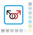 gay love symbol framed icon vector image vector image