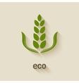 green eco icon vector image vector image