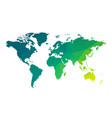 green geometric blank world map vector image