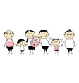 Happy big family with children newborn baby vector image vector image