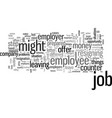 how to quit a job vector image vector image