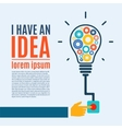 I have an idea creative conceptual background vector image vector image