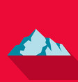 ice mountain icon flat style vector image vector image