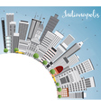 Indianapolis Skyline with Gray Buildings vector image vector image