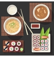 Japanese cuisine set vector image vector image
