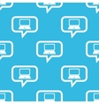 Laptop message pattern vector image vector image