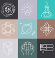 linear science icons vector image vector image