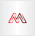 m red icon logo letter sign line symbol logotype vector image vector image