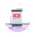 media music player video mobile flat color icon vector image vector image