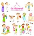 Muslim people celebrating Eid vector image