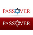 passover wish israel star graphic vector image