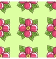 Pink Flowers On Green vector image vector image