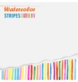 postcard template with bright colored stripes vector image vector image