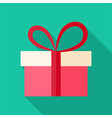 Present box with big bow vector image