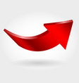 red up arrow vector image vector image