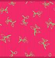 seamless hand drawn foliage pattern vibrant pink vector image