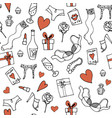 seamless pattern for valentines day or wed vector image vector image