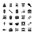 seller solid icons pack vector image