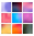 Set Blurred Backgrounds vector image vector image