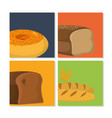set of bakery products vector image vector image